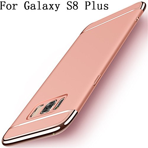 Galaxy S8 Plus Hülle, Heyqie 3 in 1 Ultra-thin 360 Full Body Anti-Scratch Shockproof Hard PC Non-Slip Skin Smooth Back Cover Case with Electroplate Bumper For Samsung Galaxy S8 Plus - Rose Gold Iphone Mobile-skin