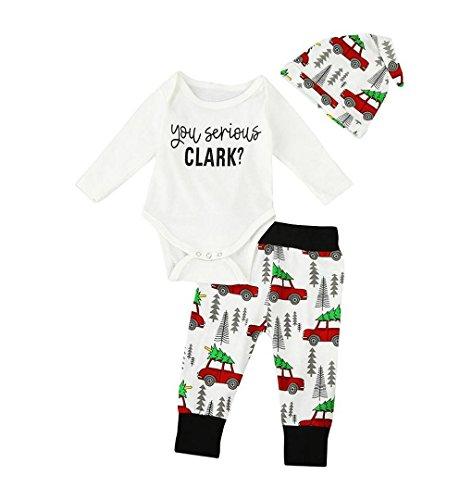 Neugeboren Kinder 2 Stück Outfits Kleider Set | ZEZKT-Baby Jungen Romper + Hose Schlafanzug Pyjama Hausanzug Sleepwear Kinder Weihnachtsgeschenke (Size:70 3Monate, Lange Ärmel)