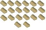 LEGO City - 20 Dachsteine 45° mit 2x4 Noppen in der seltenen Farbe beige - tan - sandfarben