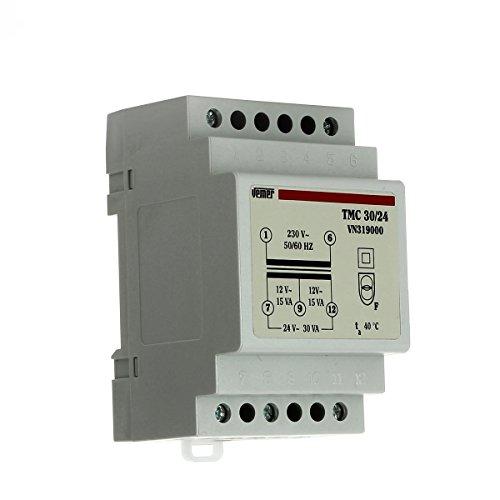 Trasformatore modulare di sicurezza TMC 30/24 con doppio isolamento Vemer