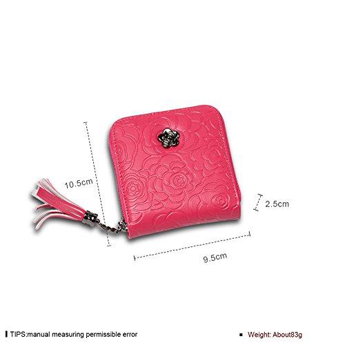 Faysting EU donna portafoglio donna borsellino multi colori piazza forma con nappa buon regalo F
