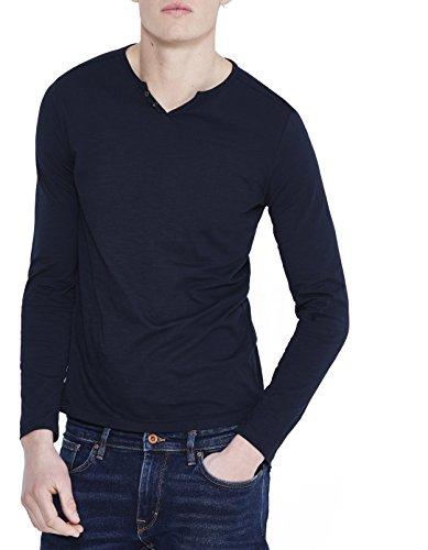 Celio Herren T-Shirt Abelong Bleu (Navy Blue 02)