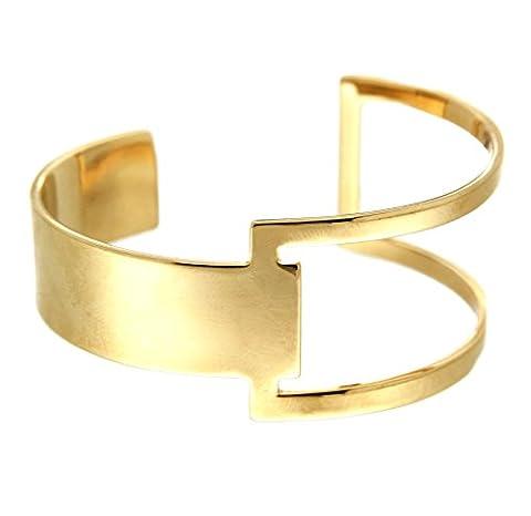 sweet deluxe Armspange Ginelle in gold, Damen-Armband für jeden Anlass, Armreif, Geburtstagsgeschenk für Frauen, Geschenkidee, Hochzeit, Geburtstag