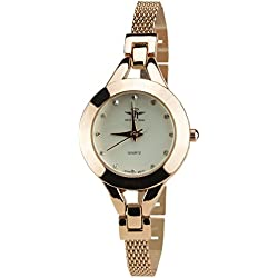 Women's Watch MICHAEL JOHN Silver Quartz Steel Case Analogue Display Steel Band Rose