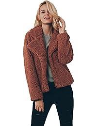 Amlaiworld Sweatshirts Winter Damen Strickjacken weich flauschig pullis warm  Revers Jacke Oberteil 0f9f9d73e3