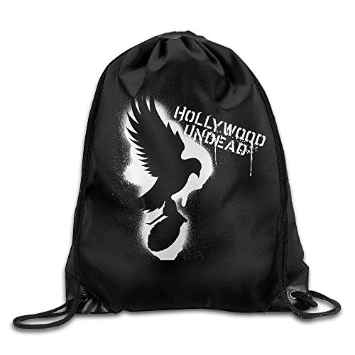 DHNKW Gym Hollywood Undead Notes from The Underground Cool Drawstring Backpack Sports Bag (Sport Hollywood Halloween)