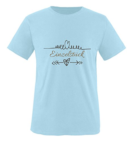 Comedy Shirts - Einzelstück - Herz Pfeile - Herren T-Shirt - Royalblau/Hellbraun-Grau Gr. XXL