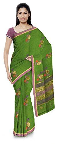 Jamil Kota Doria Sarees Cotton Saree (Wh023_Green)