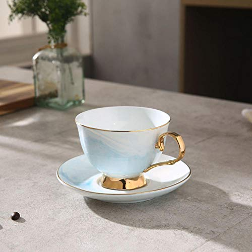 Mytxfh tazzine da caffè tazza da 200 ml tazza piattino in ceramica tazza da tè in ceramica san valentino in porcellana