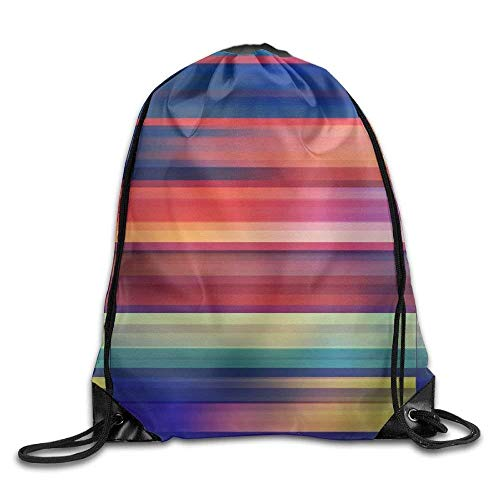 ZHIZIQIU 3D Print Drawstring Bags Bulk, Colourfull Abstract Arts Unisex Outdoor Rucksack Shoulder Bag Travel Drawstring Backpack Bag Size: 4133cm
