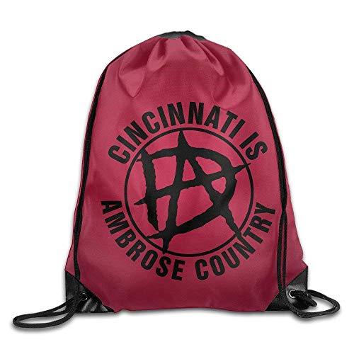 Dean Zip (OQUYCZ Dean Ambrose Gym Drawstring Backpack Sport Bags)