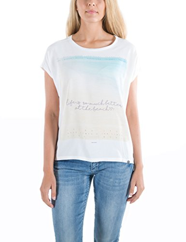 Timezone Beach Life Top, T-Shirt Donna Weiß (Pure White 0100)