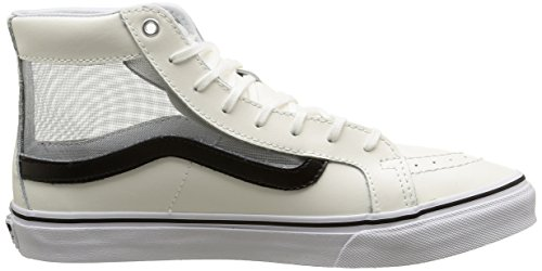 Vans Sk8-hi Slim Cutout, Sneakers Hautes mixte adulte Blanc (Mesh/White/Black)