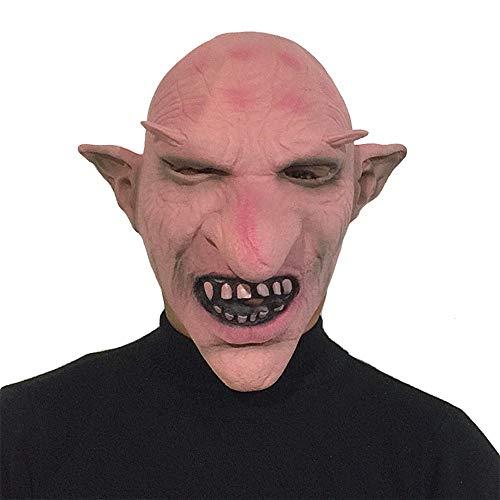 Spitze Nase Lange Kostüm - Scary Halloween Masken Lange Spitze Nase Ohren Monster Maske Demon Vampire Kostüme Masken Hexe Maske für Männer Party Prop