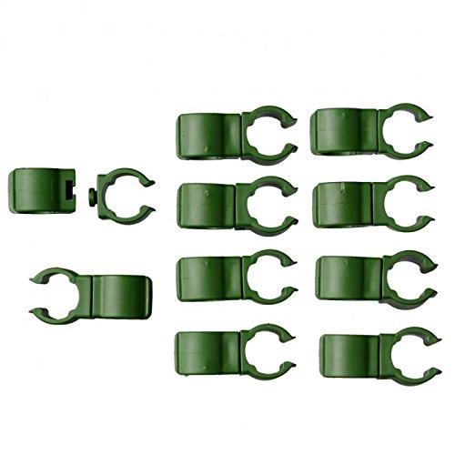 lot de 10 connecteurs clip orientable pour tuteur acier de Ø16 mm