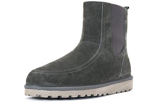 OZZEG Mode masculine nouveau conçu chaussures de bottes en peau de mouton hiver laine Gris