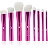 MAKEUP CAT 8 Pieces Makeup Brush Set Professional Synthetic Hair Makeup Brushes Rose Red Set2