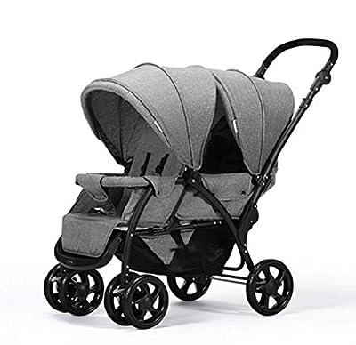 0b64aed67 Silla de paseo doble, con cochecito cochecito Recién nacido y niño pequeño,  sistema de viaje en tándem Cochecito Pramette capazo convertible para  unidad de ...