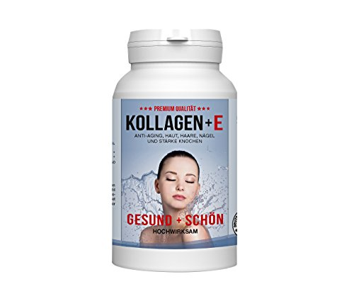 Hochreines Beauty Kollagen 600mg 100% reines Kollagen Hydrolysat 620mg MCC Vivapur (Zink,VitamineB12/E) Tagesdosis Für schöne Haut, Haare, Nägel und Bindegewebe