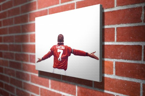 Eric Cantona Manchester United Football Gallery Framed Canvas Art Picture Print