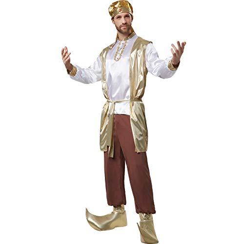 dressforfun 900527 - Herrenkostüm prächtiger Sultan, Orientalisches Gewand mit vielen goldenen Elementen (S | Nr. (Disney Kostüm Zeichen)