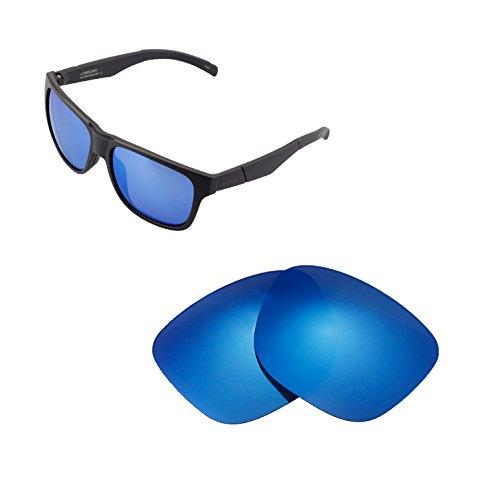 Walleva Ersatzgläser für Smith Lowdown Sonnenbrille - Mehrfache Optionen verfügbar (Eisblau - Polarisiert)