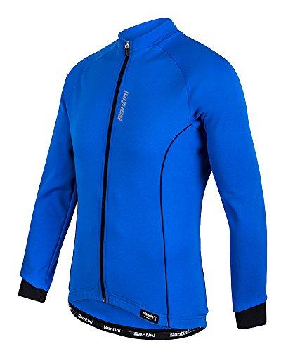Santini 365 Ora Thermo Fleece, Langarm, Jersey, M, Turquoise (Santini Thermo-fleece)