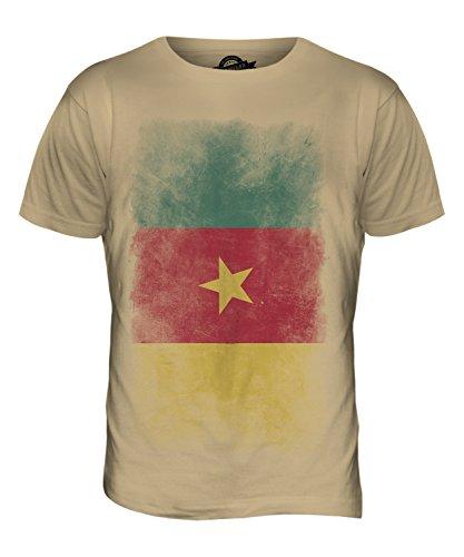 CandyMix Kamerun Verblichen Flagge Herren T Shirt Sand
