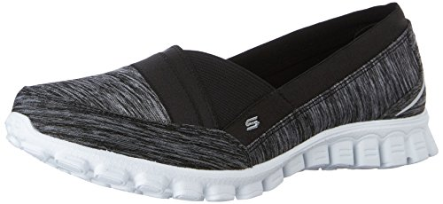 Skechers EZ Flex 2 Fascination, Ballerine Donna, Nero (Nero (Bkw)), 37 EU