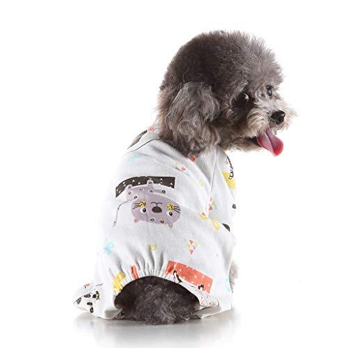 Pet Hunde-Pyjama,Hundebekleidung Winter Weihnachten Schnee drucken Hund Hündchen Weiche Kostüm Haustier Kleidung - Flapper Hunde Kostüm