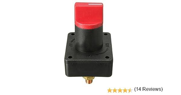 Cikuso Commutateur Rotatif Coupe-Batterie Interrupteur Rotatif Interrupteur 12V Bateau Marin RV Bateau 12V