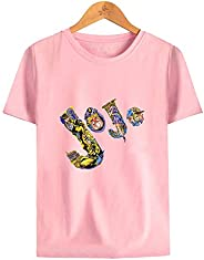 Jojo's Bizarre Adventure T Shirt Short Sleeve,Anime Printed Crew Neck Cotton Tee Un