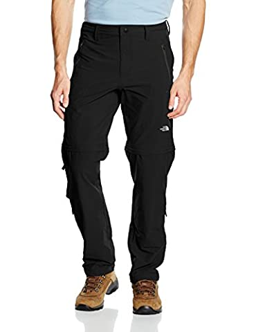 North Face Men's Exploration Convertible Long Pants - Black/TNF Black,