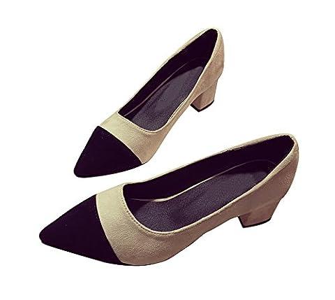 Verocara Women's MSL10 Fashion Pointed Toe Ballet Flat Shoes Black 4.5 UK