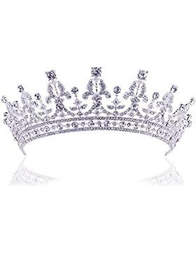 Tiara Diadem Krone Strass Haarschmuck Stirnschmuck Braut Hochzeit Stirnband