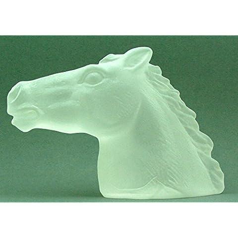 Cabeza de caballo de cristal–Satinado