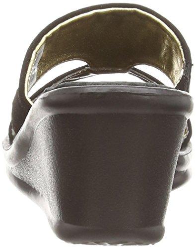 Skechers Rumblers Hope Floats, Sohle kompensiert Damen, Schwarz - Schwarz - Größe: 38 -