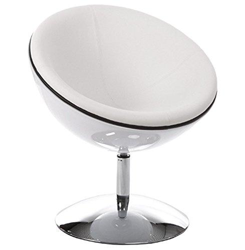 Alterego - Fauteuil design boule 'SPHERA' pivotant 360° blanc