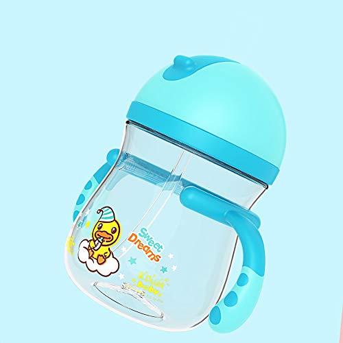 Biberón para bebés/niños aprenden a Beber Taza con asa/Taza para Aplastar al bebé Taza Resistente a los Golpes 400 / 300ML