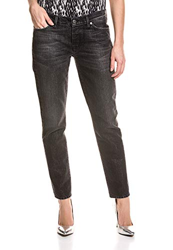 7 For All Mankind Damen Boyfriends-Jeans Silberschimmer