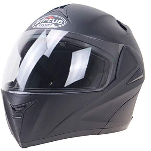 WLJBY Full-Face Motorradhelm für Erwachsene Anti-Fog-Helm mit Doppellinsen-Flip-Funktion Motorrad-Fahrrad-Schutzhelm · Männer und Frauen Allgemein DOT & ECE-Zertifiziert,S