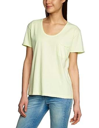 SELECTED FEMME Damen T-Shirt 16029174 DAISY SS TEE - BASIC, Gr. 34 (XS), Gelb (lime cream)