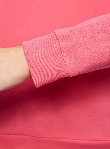 oodji Ultra Donna Felpa in Cotone con Stampa Rosa (4D29P)