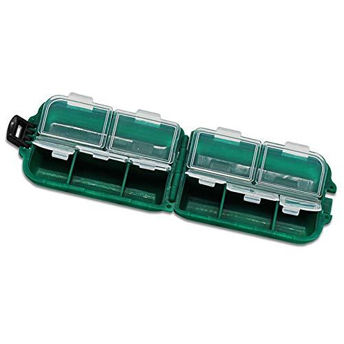 Mini 10 Fächer Angeln lockt Plastikbox Angelbox Köderbox zubehörbox Werkzeugbox Sortimentskasten