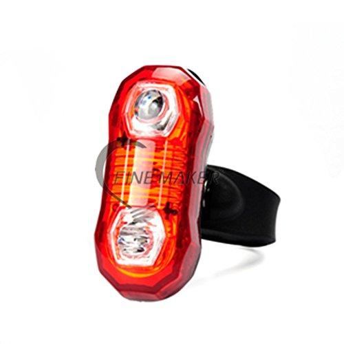 Preisvergleich Produktbild IRISH Bike Rückleuchten 2 LEDs 3 Mode Bike Radfahren Back Tail Licht Sicherheit Blinkende Fahrrad Lichter