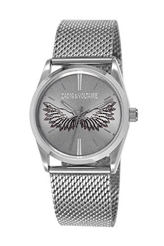 Zadig & Voltaire -Reloj de Pulsera, Analógico cuarzo, Acero inoxidable, Unisex