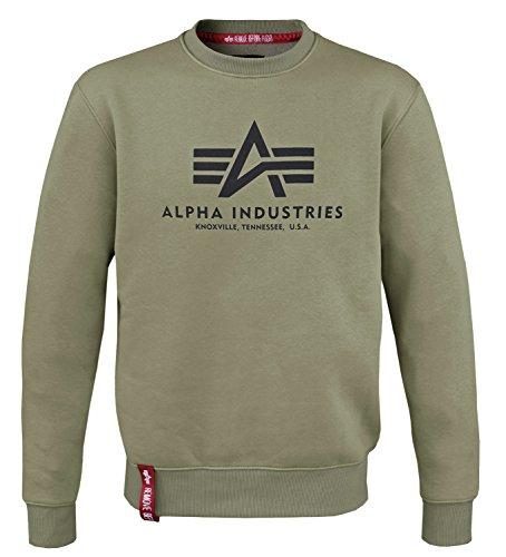 Alpha Ind. Basic Sweater oliv - S