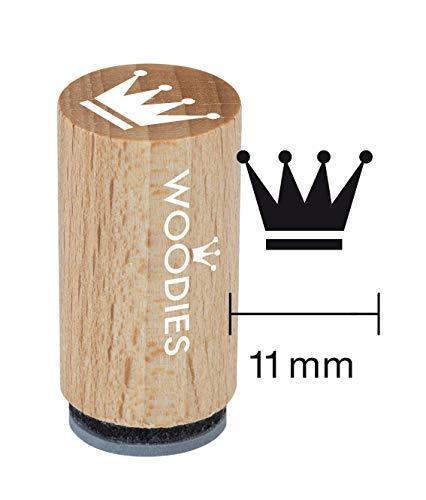 Woodies Mini Stempel Krone, Holz, 1,5x 1,5x 3cm -