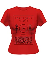 Official Skinny T Shirt Twenty One Pilots Thin Line BOX Red XXL 16