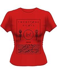 Official Skinny T Shirt Twenty One Pilots Thin Line BOX Red M 10